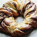 Torsade briochée à la pâte à tartiner