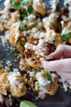 Mexican Street Style Grilled Cauliflower Tales of a Texas Granola Girl Easy Cauliflower Recipes, Califlower Recipes, Cauliflower Bites, Low Carb Recipes, Healthy Recipes, Fast Recipes, Lunch Recipes, Yummy Recipes, Kitchens