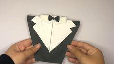 Fancy Envelopes, Handmade Envelopes, Fancy Fold Cards, Folded Cards, Tuxedo Card, Faire Part Invitation, Arte Van Gogh, Envelope Design, Birthday Cards For Men