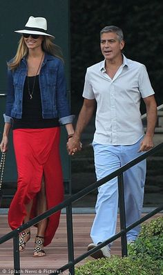 Stacey Kiebler and George Clooney in Italy - 06.12 they're both hot!