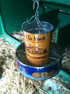 Homemade Chicken Pellet Feeder by wittco.gmbh, via