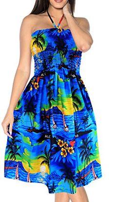 New La Leela Hawaiian Printed Backless Tube Dress online. Find great deals on Amoretu Dresses from top store. Sku kdxb90779zunm21929