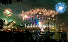 sydney habour bridge & opera house fireworks new year eve 2008 by Linh_rOm, via Flickr