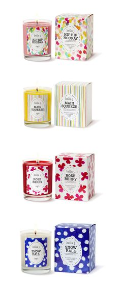 Candles #packaging in Collaboration with Illustrator, Sujean Rim  PD