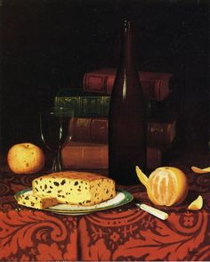 Still Life with Raisin Cake, Fruit and