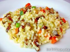 Cuscus cu legume (Cous-cous) Couscous, Romanian Food, Fried Rice, Baking Soda, Risotto, Vegan Recipes, Spices, Food And Drink, Lunch
