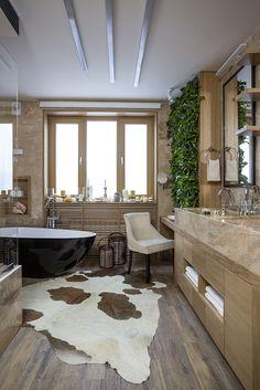 Bathroom eco-design with small vertical gardens Modern Bathroom Tile, Bathroom Interior Design, Eco Bathroom, Palette, Bathroom Styling, Beautiful Bathrooms, Small Apartments, Sky, Rain Logo