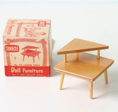 Vintage Mid Century Modern Strombecker Doll Furniture door bellalulu