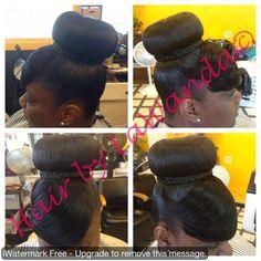 Wondrous Bun W Tri Feathered Bang Flawless Hair Buns Updos Short Hairstyles For Black Women Fulllsitofus