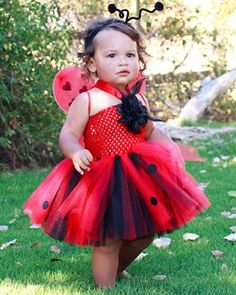 Tutu Mania Girl's Ladybug Costume **** NOT MY CREATION BUT AN IDEA OF WHAT I MAY BE ABLE TO DO ***