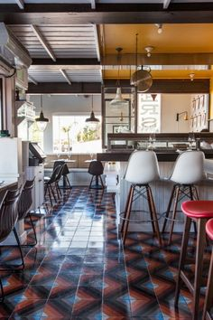 LINUS tile, Fishing With Dynamite Restaurant, Manhattan Beach, CA,  2013  Architects: FC Studio, Chicago