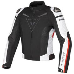 Dainese Super Speed Tex Men& Motorcycle Textile Jacket black white red very Motorbike Clothing, Motorbike Jackets, Motorcycle Outfit, Motorcycle Clothes, Motorcycle Equipment, Scrambler Motorcycle, Riding Jacket, Riding Gear, R1200r