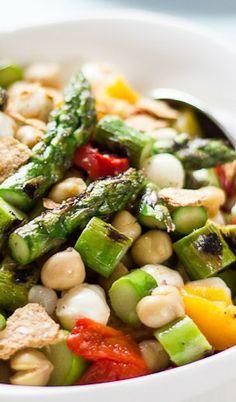 Char-Grilled Asparagus Chopped Salad