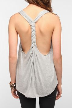 DIY Braid-Back Tank Top