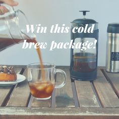 Win the perfect coffee cold brew package! 10 seconds to sign up and you could own a French Press by Espro, an Andy+ Reusable Travel Mug and a bag of coffee from Dispatch Coffee. We're even giving away a cold brew coffee recipe!