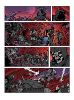 He-Man and the Masters of the Universe by Jukka Issakainen, via Behance