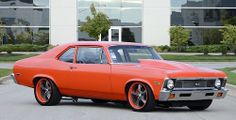 The good old 1972 Chevy Nova Pro-Touring Custom.  What a beauty, and it still remind me of the good old days. The sound of this car I never forget!