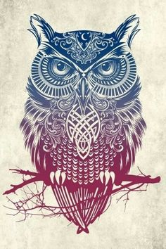 Owl Abstract Wallpaper