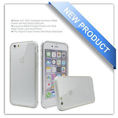 """Phone 6 Case, Zio [Aluminum Metal Frame] [TPU Hybrid Fusion] [All Clear Scratch-Resistant Clear Back Cover] [Shock Absorbent] iPhone 6 4.7"""" Case [Iron Bumper] [2015 Model] (iPhone 6-Silver) Zio http://www.amazon.com/dp/B00X71OQYK/ref=cm_sw_r_pi_dp_KmHPvb0HS96KT"""