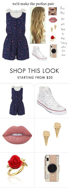 """""""~ Tell Me You Don't Want My Kiss"""" by delahunty-ashton ❤ liked on Polyvore featuring maurices, Converse, Lime Crime, Marc Jacobs, Disney Couture and Kate Spade"""