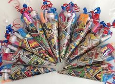 Marvel Super Hero themed sweet cones/party cones/party bags/party supplies - Marvel Super Hero themed sweet cones/party cones/party bags/party supplies Source by jessyzales Superhero Party Bags, Superhero Birthday Party, 6th Birthday Parties, Super Hero Birthday, Comic Party, Sweet Cones, Avengers Birthday, Super Party, Spiderman