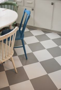 grey and white floor Porch Flooring, Linoleum Flooring, Kitchen Reno, Kitchen Dining, Laundry Room, Tile Floor, Chair, House, Furniture