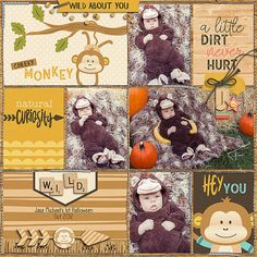 Whether you have a cheeky little monkey at home or you visit them in the zoo, Cheeky Monkey by Digital Scrapbook Ingredients is perfect for documenting those silly, cute and adventurous pictures! http://www.sweetshoppedesigns.com/sweetshoppe/product.php?productid=35888&cat=885&page=1