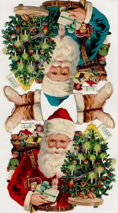 Vintage Christmas Santa. Victorian Scraps
