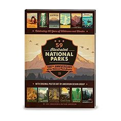 59 Illustrated National Parks - Hardcover: 100th Anniversary of the National Park Service >>> You can get more details by clicking on the image.
