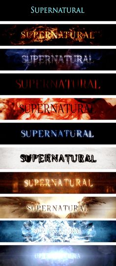 Title Cards supernatural From Season 1 to Season Destiel, Sam E Dean Winchester, Winchester Brothers, Jared Padalecki, Supernatural Series, Supernatural Party, Supernatural Season 11, Supernatural Poster, Supernatural Impala