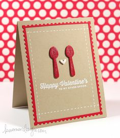 Other Spoon Card Valentines Day Cards Handmade, Valentine Day Love, Valentines For Kids, Valentine Crafts, Handmade Cards, Vase, Frame Crafts, Simon Says Stamp, Creative Cards