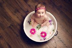 Milk Bath Toddler Session