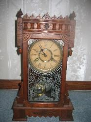 Antique WM L  Gilbert & Company  Abyla Model Wind Up Shelf / Mantle Clock by Antiquescove, $350.00