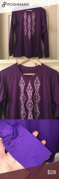 SNOW ANGEL Base layer Purple Ski Top Sz L Fitted top great for layering in the cold weather❤️sz L❤️good used condition❤️happy poshing friends❤️ snow angel Tops