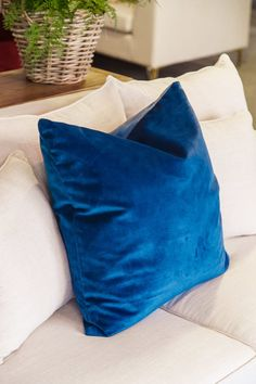 Brosa brings style, comfort & choices straight to your door, for less. Cushions On Sofa Color Schemes, Sofa Colors, Blue Cushions, House Color Schemes, House Colors, 3 Seater Sofa, New Room, Room Inspiration, Furniture Design