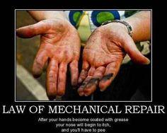 Law Of Mechanical Repair - Car Humor