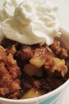 Looking for a delicious apple crisp recipe? Try baking this moist apple crisp! Combine oats, brown sugar, cinnamon, and apple slices to make the apple crisp mixture. Then, top it was sauce made from sugar, cornstarch, and vanilla to add extra moistness. This easy apple crisp recipe is the perfect fall or Thanksgiving dessert!
