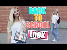 Girlyaddict : Back to school Look School Looks, Youtubers, Back To School, Addiction, Girly, Cat, Outfit, Quote, Bricolage