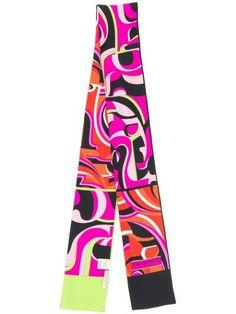 Emilio Pucci x Koché Printed Silk Scarf - Farfetch Emilio Pucci, Accessories Shop, World Of Fashion, Going Out, Women Wear, Printed Silk, Elegant, Pink, Fashion Design