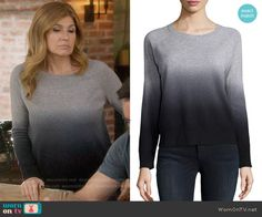 Rayna's grey ombre sweater on Nashville. Outfit Details: https://wornontv.net/57026/ #Nashville