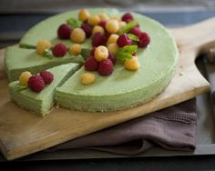 Green tea cheesecake! (FYI - Other blogs suggest using 2 tbsp of matcha when making this recipe.)
