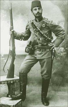 Dowódca jednostki ochotniczej w Salonikach, armia turecka