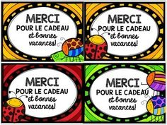 FREE French cards for the end of the year - Bonnes vacances! Teaching Tools, Teaching Resources, End Of The Year Celebration, Student Teacher Gifts, End Of Year Activities, Free In French, Free Thank You Cards, End Of School Year, School Subjects
