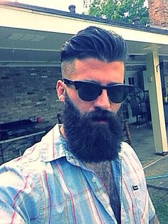 this hair. beard too but I have to be realistic I can't grow onewith this hair. beard too but I have to be realistic I can't grow one Beard Game, Epic Beard, Full Beard, Mohawk Hairstyles Men, Haircuts For Men, Great Beards, Awesome Beards, Hairy Men, Bearded Men