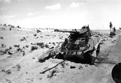 Unusual Egyptian hybrid of M4A4 hull and FL-10 turret destroyed after fights on Sinai, Six Day War, June 1967