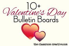 February bulletin board idea for Valentine's Day.