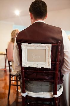Groom chair sign for wedding