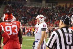 https://flic.kr/p/yHjoC1 | Pursley looks to the SMU sideline Houston