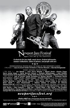Exclusively for jazz buffs, sailors, pirates, and people with ears. Newport Jazz Festival, Eat Pray Love, Jazz Club, 60th Anniversary, Sailors, Cape Town, Stuff To Do, Festivals, Pirates