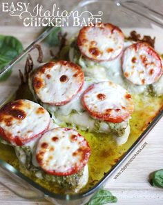 This is one of my family's favorite easy weeknight recipes!  The Italian Chicken Bake comes together in minutes with only 4 ingredients and rich, delicious flavors!  An easy, healthy, and gluten fr...